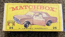 Matchbox Lesney Ford Cortina G.T. 25 d1 met brown SC1 V/NM & original E4 box