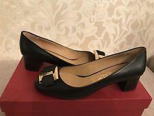 NIB Salvatore Ferragamo 6 36.5 Ninna F40 Shoes Flat Black Bow 525$