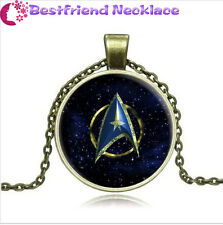 Star Trek Steampunk Moive Cabochon Glass bronze necklace for women men Jewelry
