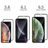 [1-Pack] For iPhone 11 Pro X XR XS Max 9D Tempered Glass Full Screen Protector