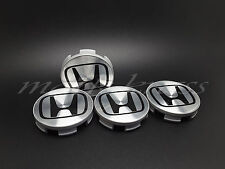 4x58mm Argent Noir Honda Roue Alliage HUB Center Caps Civic Accord CRV