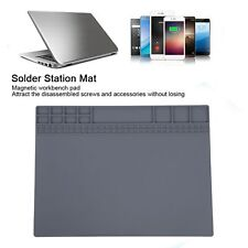 Repair Mat Silicone Heat Resistant Solder Station Pad 500 With Magnetic Strip