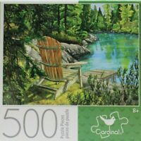 """Lake Scene 14"""" X 11"""" 500 Piece Puzzle Very Hard Small Pieces"""