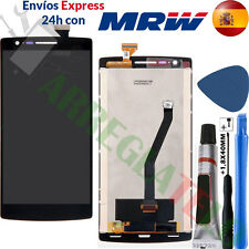 PANTALLA PARA ONEPLUS ONE PLUS ONE 1 + 1 Negra TACTIL LCD Adhesivo DISPLAY Black