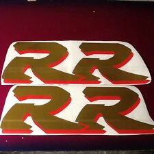 FIREBLADE GOLD CHROME RED LARGE RR CBR 900 MID FAIRING PAIR DECALS STICKERS