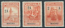 Macau - Pombal-Denkmal Zwangszuschlagsmarken Satz postfrisch 1925 Mi. 4-6