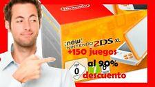 New Nintendo 2DS XL - Naranja / + (150) JUEGOS al 99% de DESCUENTO
