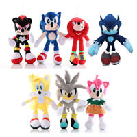 """10"""" inch Super Hedgehog Doll Plush Stuffed Toys Shadow Knuckles Amy Rose Tails"""