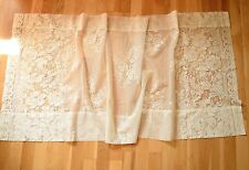"One Ivory Lace Cafe Wide Curtain French Country Pretty Floral Lace 60"" W x 26"" L"