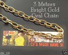 3 METERS OVAL LINK GOLD SILVER RED COPPER ANTIQUE BRONZE  IRON CHAINS 6.7x7x1mm