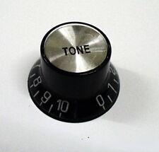 Reflector Negra Guitarra Perillas Top Hat Espejo Perilla de control de tono