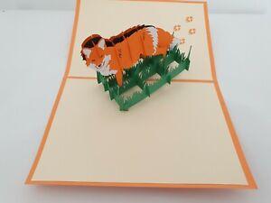 3d Popup Fox Card