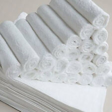 Bulk Save 50 x Budget Face Washer/ Wipe Quality Plain towels 100% Cotton 32x32cm