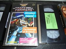 Transformers: The Revenge Of Bruticus / Dinobot Island - Parts 1 And 2 RARE VHS