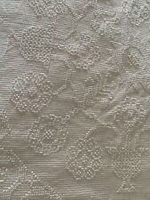 Vintage White Chenille Bedspread Full Size Fringe Cottage Farmhouse Cotton