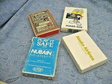 4 Decks Vintage Advertising Playing Cards 2 sealed Supermarket Airlines Dupont