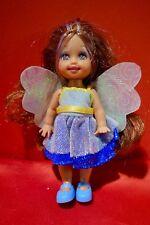 Barbie Doll little sister Shelly Kelly  brunette in blue fairy dress & wings