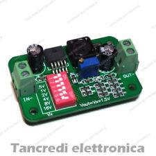 LM2596S Convertitore DC-DC step-down regolazione tensione con dip switch arduino