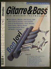 GITARRE & BASS 2001 # 7 - BON JOVI PAUL GILBERT NEIL YOUNG BAP LED ZEPPELIN
