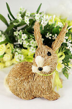 Easter Cute Bunny Rabbit Decoration New Idea Natural Sisal Fiber Straw Spring