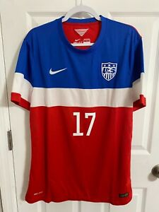 2014 USA SOCCER vs Azerbaijan Match worn Altidore Player issue Jersey Authentic