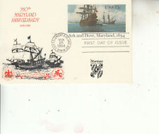 Ux101 First Day 350Th Anniv. Maryland Ark&Dove Beautiful Cachet By Kenick Ultra