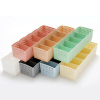 5 Grids Closet Underwear Bra Sock Tie Organizer Storage Box Drawer Divider Home