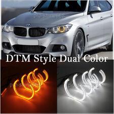 Amber White Crystal DTM Style LED Angel Eyes Halo Rings Light For BMW E92 E90 a