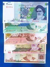 Persien - 5 x BANKNOTEN 1000 Rials / 20000 Rials  P-143 144 150 146 153  UNC SET