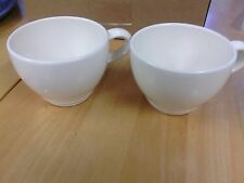 PFALTZGRAFF TERRACE WHITE SET OF 2 FLAT CUPS USA