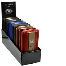 10 XXL Damenbörsen mit RFID-Schutz im Display Rindleder Portemonnaie Geldbörsen