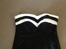 CITY CHIC Strapless Black And White Dress - Size XS