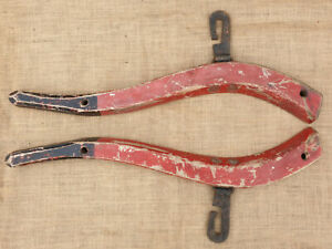 Pair of Vintage Wooden Horse Hames