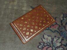 vintage handmade leather wallet