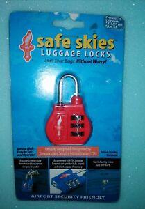 Safe Skies Liberty Bell 3-Dial Combination TSA Luggage Lock - 9 Colours