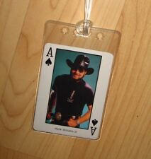 Hank Williams Jr. Luggage Tag - Vintage 1980s Country Music Western Playing Card