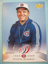 """2008-09 UD Montreal Canadiens """"100th Anniversary"""" Centennial #160 Scotty Bowman!"""