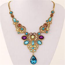 Bohemian Boho Teardrop Necklace Fashion Statement Jewelry Hippie Gypsy Chic
