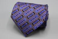 STEFANO RICCI Whimsical Purple Blue Yellow Black Silk Tie.