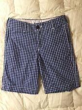 NEW Boy's ABERCROMBIE Kids Navy Plaid Shorts, Size 12