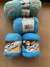 Sugar 'N Cream Cotton Yarn & Lana Grossa Meilenweit Yarn! ! LOT of 4! Pretty!
