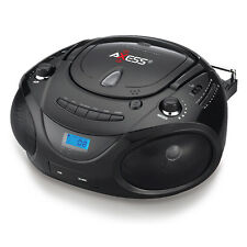 PORTABLE CD PLAYER FM RADIO AC/DC USB AUX-IN 4 MP3 PLAYER iPOD BOOMBOX SPEAKERS