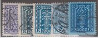 AUSTRIA #280 & #284-#287 USED SET