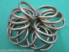 14 anneaux laiton massif occasion tringle rideau diamètre intérieur 5,6 cm