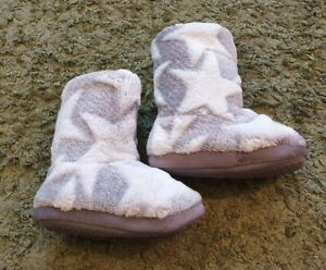 NEW Next grey star boot slippers UK size 6 infants
