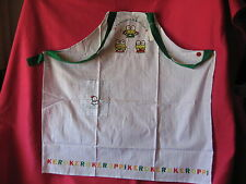 Sanrio Keroppi Apron Stripe Adult New Vintage1988/1990