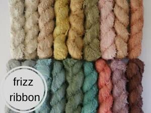 cotton frizz ribbons 35m recycled frizzy edge fibre weaving macrame macra weave