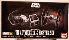 Bandai 214502 Star Wars 007 Tie Advanced & Tie Fighter Set 1:144