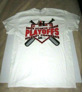 Hickory Crawdads South Atlantic League Playoffs 2015 T-Shirt Size Medium
