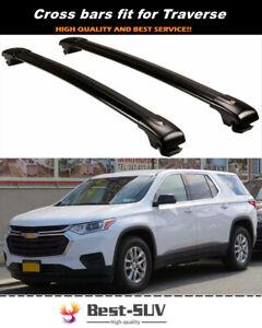 2P Roof Rail Racks Cross Bar Crossbar Fit for Chevy Chevrolet Traverse 2018-2021